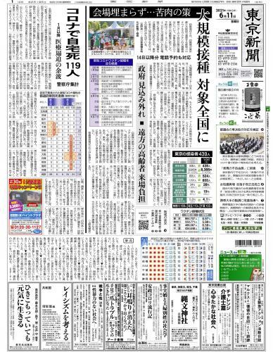 【2021年6月11日(金)】東京新聞 朝刊 バックナンバー