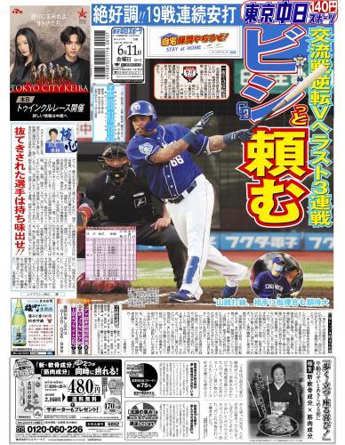 【2021年6月11日(金)】東京中日スポーツ バックナンバー